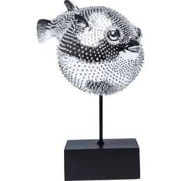 KARE Figure de décoration Blowfish (Argent)