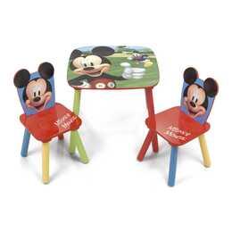ARDITEX Tischset mit 2 Stühlen Mickey