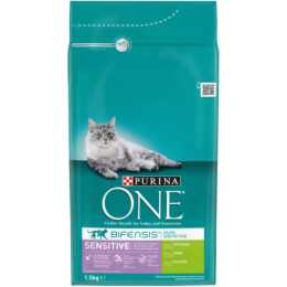 PURINA ONE Trockenfutter Sensitive Truthahn & Reis, 1.5kg