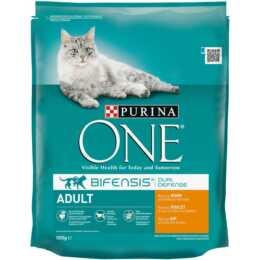 PURINA ONE Trockenfutter Adult Huhn & Vollkorn, 800g