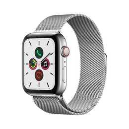 APPLE Watch Series 5 GPS + LTE Stainless Steel/Stainless Steel (44 mm, Edelstahl, Edelstahl)