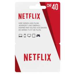 NETFLIX Card 40 CHF