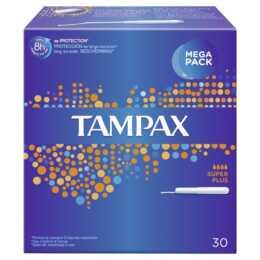 TAMPAX Super Plus Tampon (30 Pièce, Large plus)