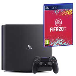 SONY PlayStation 4 Pro Jet Black + FIFA 20 (DFI) 1 TB