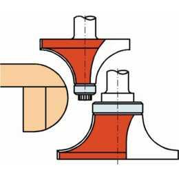 ALBIN KRAUS C06.3 Abrundfräser (12 mm, 66 mm)