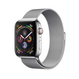 APPLE Watch Series 4 GPS + Cellular 44 mm Milanaise Silber/Silber