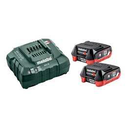 METABO Stromversorgung Basic Set 12V 2x LiHD 4.0Ah + ASC