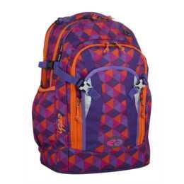 YZEA PRO Cone Rucksack (Violett, Orange)
