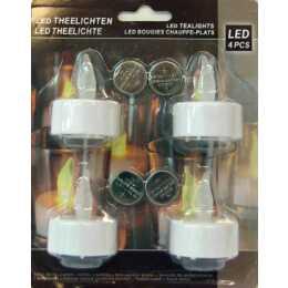 KOOPMAN Set 4x Candela del tè del LED (Bianco)