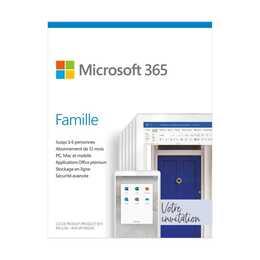 MICROSOFT 365 Famille (Abo, 6x, 1 Jahr, Französisch)