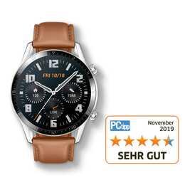 HUAWEI Watch GT 2 Brown (46 mm, Plastica, Vera pelle)