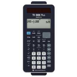 TEXAS INSTRUMENTS TI-30X Taschenrechner (Standard Batteriebetrieb, Solarzellen)
