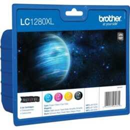 BROTHER LC-1280XLVALBP (Schwarz, Gelb, Cyan, Magenta, 4 Stück)