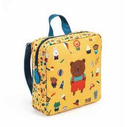 DJECO Kindergartenrucksack (Gelb, Blau)