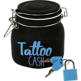 MICHEL-TOYS Tattoo Cash Sparbüchse (Schwarz)