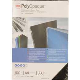 GBC Deckblatt & -folie PolyOpaque (Schwarz) (100 Stücke)
