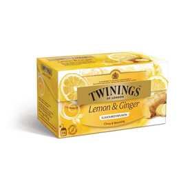 TWININGS Lemon & Ginger (Bustina di tè, 25 pezzo)