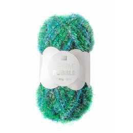 RICO DESIGN Wolle Creative Bubble Print (Grün, Polyester, 50 g)
