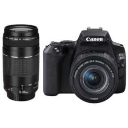 CANON EOS 250D + EF-S 18-55 mm/75-300 mm