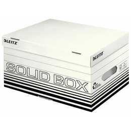 LEITZ Solid S Ablagebox (Schwarz, Weiss)