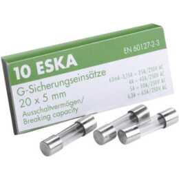 ESKA Feinsicherungen 5x20 FST 4A Glasroh