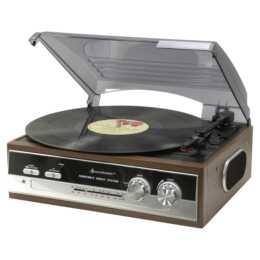 SOUNDMASTER PL186H Plateau tournant avec radio FM