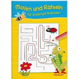 Tessloff - Malen und Rätseln für Kindergartenkinder (Rätsel, Spass, Spiele)
