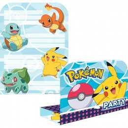 RIETHMÜLLER Einladungskarte 8 Sets Pokemon (Geburtstag)