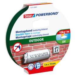 Ruban de montage TESA Powerbond Outdoor 5 m x 19 mm