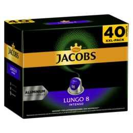 JACOBS Capsules de Café Espresso lungo Intenso (40 Pièce)