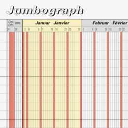 BRUNNEN Calendario anno Jumbograph 647 x 297 mm 2020