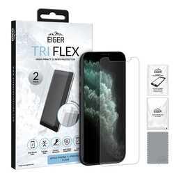 EIGER Film de protection d'écran Tri Flex (Clair, iPhone XS, iPhone X, iPhone 11 Pro)