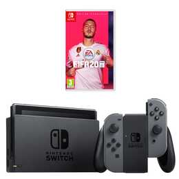 NINTENDO Switch New Grey + FIFA 20 32 GB (DE, FR, IT)