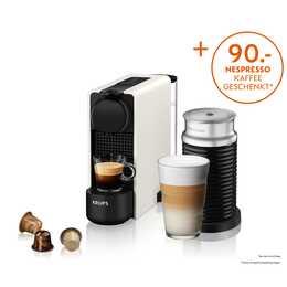 KRUPS Essenza Plus & Aeroccino XN5111 (Nespresso, Bianco)