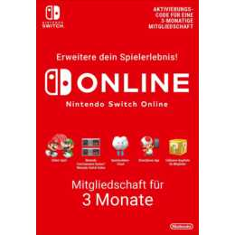 NINTENDO Online 3 Mesi (PKC, DE, FR, IT)