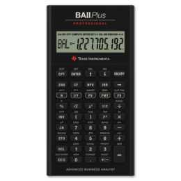 TEXAS INSTRUMENTS TI-BA II+ Prof. Calculatrice financière (Fonctionement sur batterie standard)