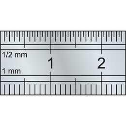 KRAFTWERK Stahl-Massstab (30 cm, Silber)