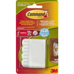 3M Tabs Command 1.58 cm x 4.6 cm, Weiss