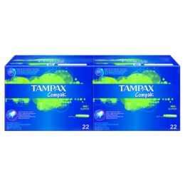 TAMPAX Compak Tampon (44 Pièce, Large)