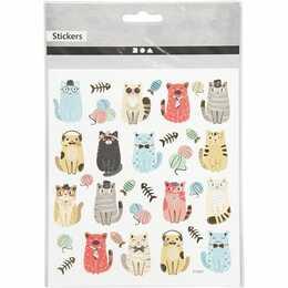 CREATIV COMPANY Sticker Lustige Katzen (Tier)