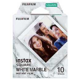 FUJIFILM Instax Square White Marble Sofortbildfilm (Weiss)