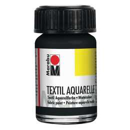 MARABU Textilfarbe Aquarelle (15 ml, Schwarz)