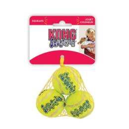 KONG Air Squeaker Tenis Ball giocattolo per cani, 4 cm, 3 pz.