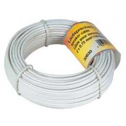 HAMA Lautsprecherkabel 2x 0.75 mm2, 10 m White