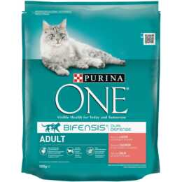 PURINA ONE Trockenfutter Adult Lachs & Vollkorn, 800g