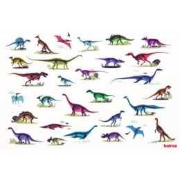 KOLMA Schreibunterlage Dinosaurier (Mehrfarbig, 50 cm x 34 cm)