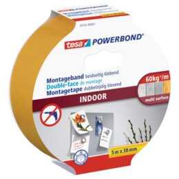 Ruban de montage TESA Powerbond Indoor 5 m x 38 mm