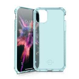ITSKINS Butoir Spectrum Clear (iPhone 11 Pro, Bleu, Transparent)