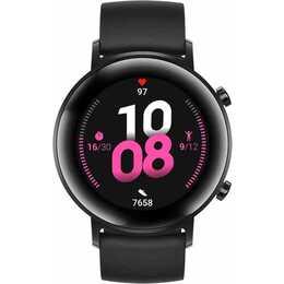 HUAWEI Watch GT 2 (42 mm, Acier inox, Silicone)