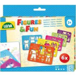 LENA Malschablone Figures & Fun